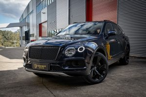 Bentley Bentayga with paint protection film bodywork left front side |concept wraps