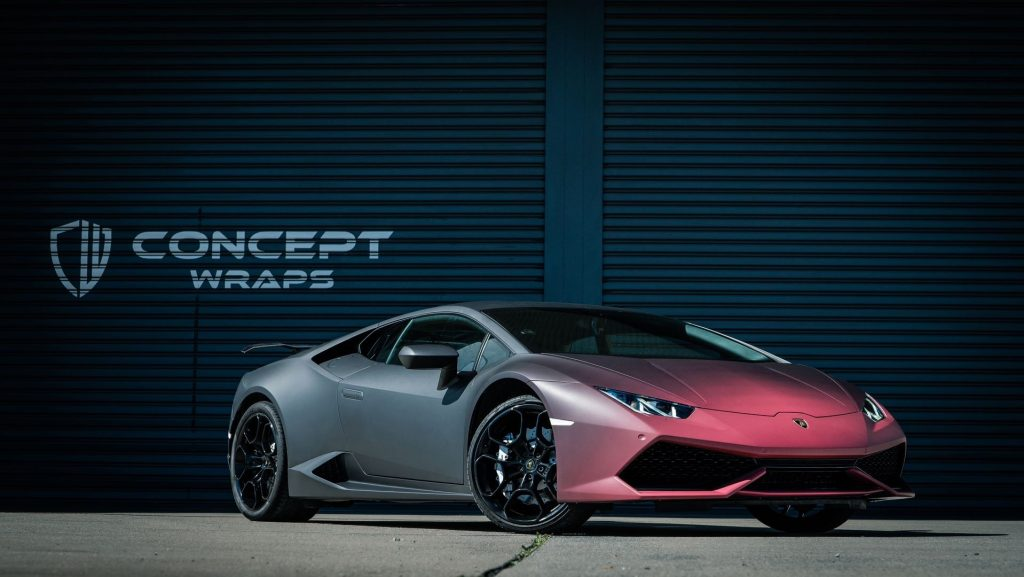 vinyl wrapping Lamborghini matte fades